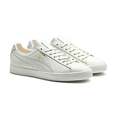 hot sale online 8c530 f5a82 Puma Clyde Natural Sneakers White Men Size 39: Amazon.co.uk ...