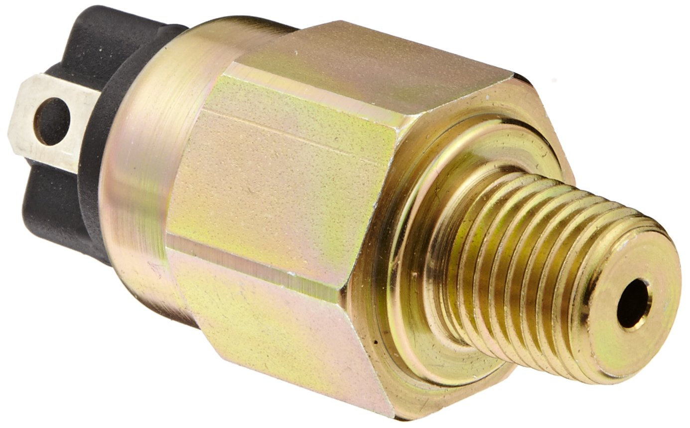 Gems PS61-10-4MNZ-A-SP Series PS61 OEM Subminiature Pressure Switch, SPST N.O. Circuit, Spade Terminal, 10-60 psi Range, 1/4'' MNPT Steel Fitting