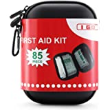 I GO 85 Pieces Hard Shell Mini Compact First Aid Kit, Small Personal Emergency Survival Kit for Travel Hiking Camping…