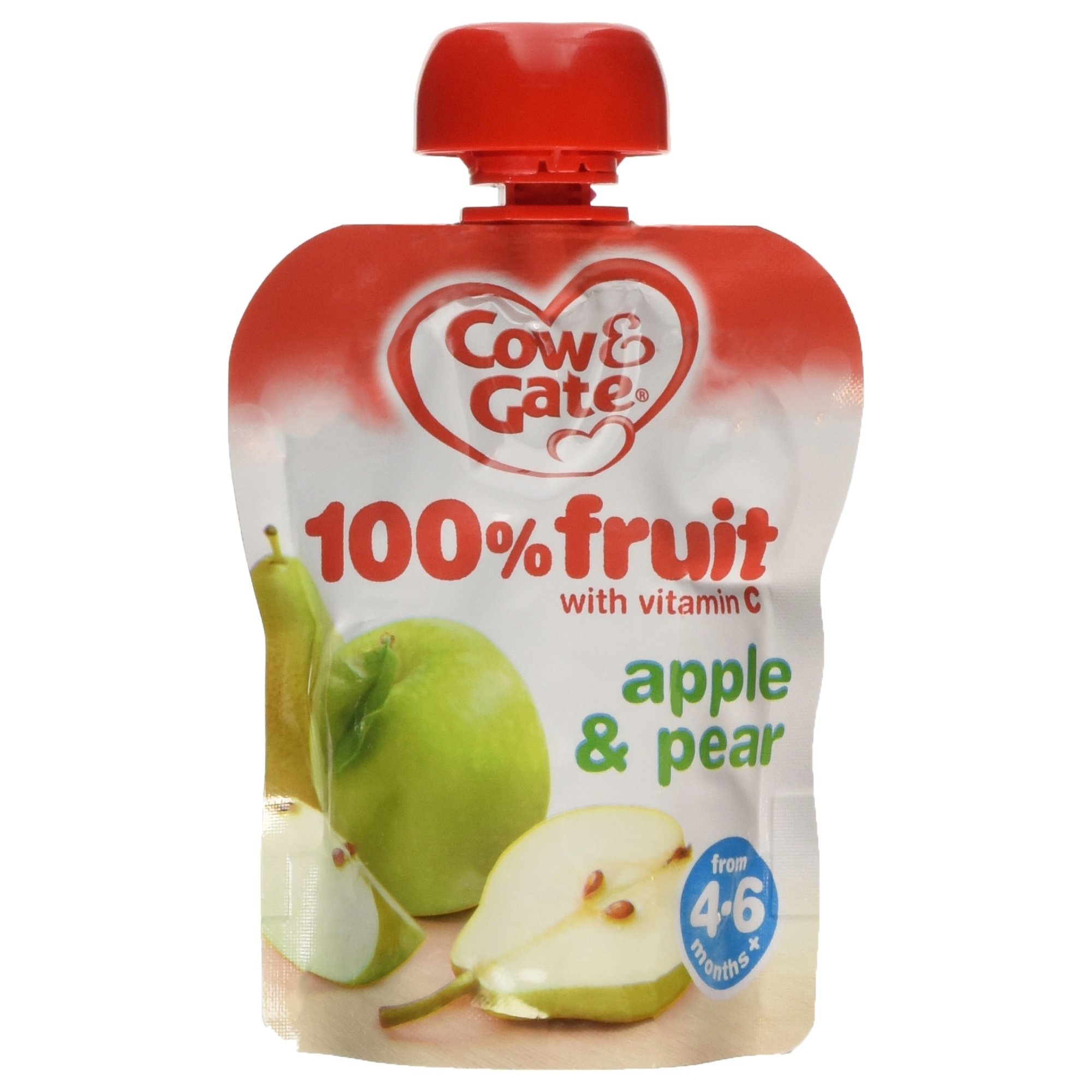 Cow & Gate - Baby Food 4-6 Months - Apple & Pear - 80g by Cow and Gate