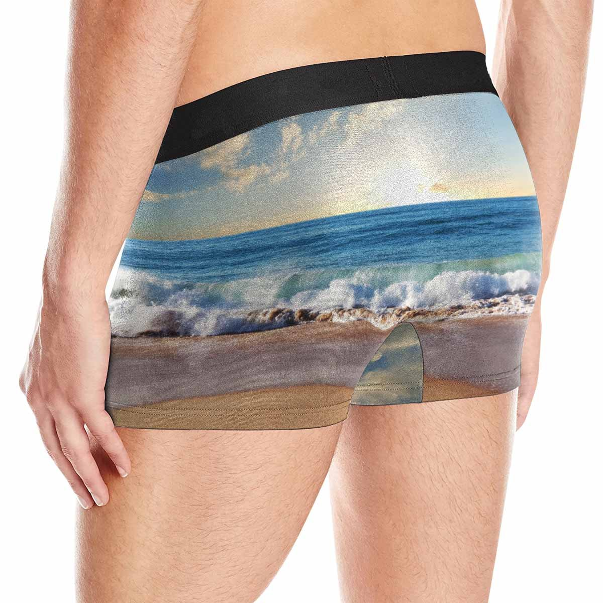 XS-3XL INTERESTPRINT Mens Boxer Briefs Underwear Sea Sunset