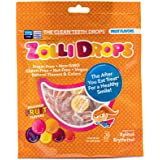 Zollipops | Clean Teeth Zolli Drops - Anti Cavity, Sugar Free Candy with Xylitol for a Healthy Smile - Great for Kids, Diabetics and Keto Diet (15-Count, Natural Fruit)