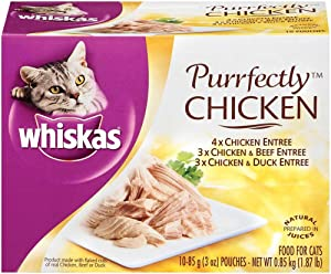 Whiskas Purrfectly Wet Cat Food Pouches, Chicken