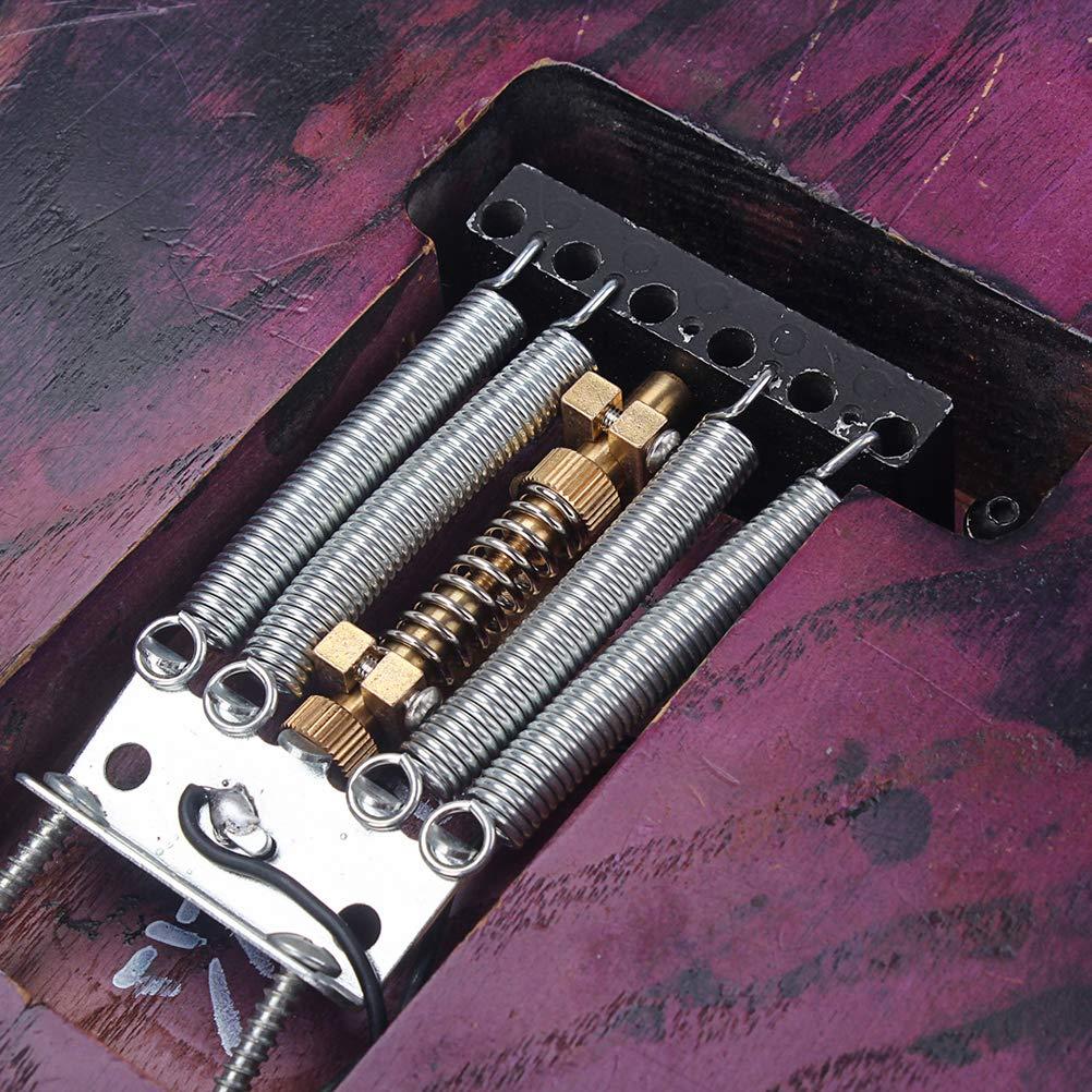 SUPVOX Kit de estabilizaci/ón de Guitarra de Cobre con tap/ón en la Parte Posterior del tap/ón Tremolo marr/ón