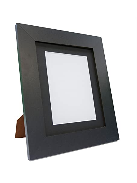 Frames By Post Metro Black Photo Picture Poster Frame with Black ...
