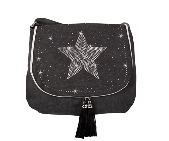 Your best choice bolso cruzados de algodón para mujer multicolor talla  única negro talla única ropa 5d2e5a94fb70
