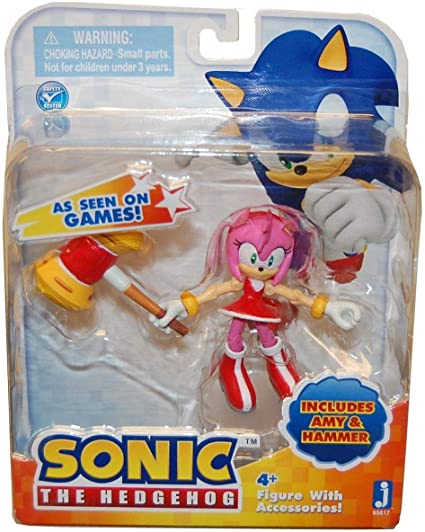 Amazon Com Zoofy International Sonic 3 Action Figure With Accessories Set Amy Hammer Toys Games