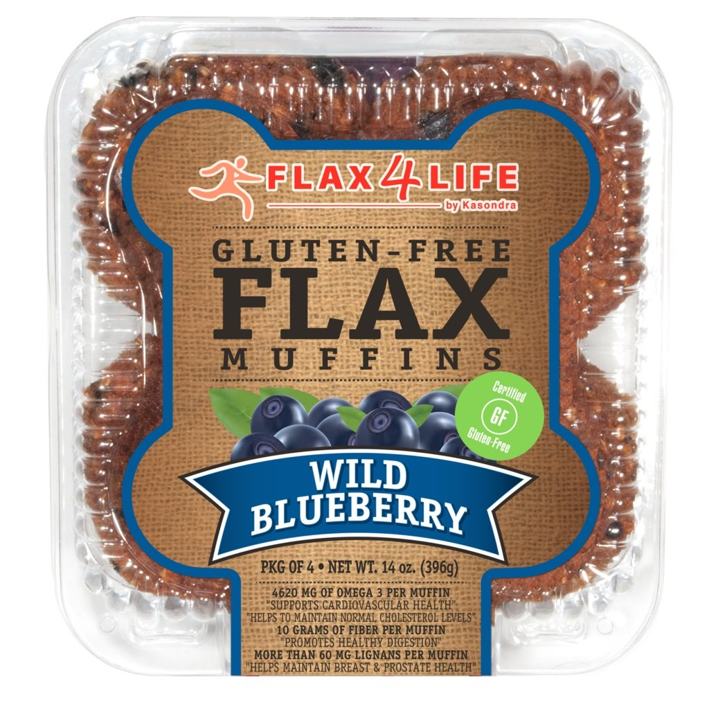 FLAX4LIFE Muffins, Wild Blueberry, 14 Ounce (Pack of 6) by Flax4Life