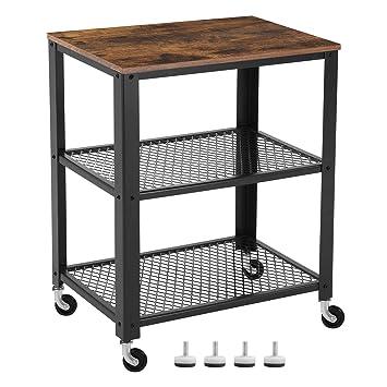 Amazon.de: VASAGLE Servierwagen im Industrie-Design, Küchenwagen ...