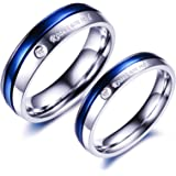 Yellow Chimes Roses are Red Platinum Plated Never Fading Proposal Couple Rings for Girls and Boys. Perfect for Couple!