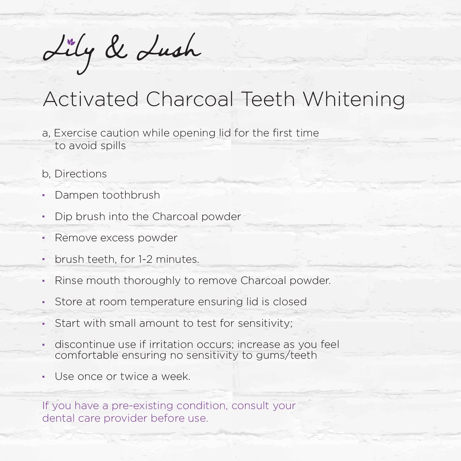 Amazon.com : Lily & Lush Coconut Activated Charcoal Teeth Whitening ...