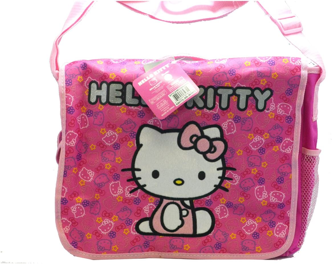 Pink Felt Hello Kitty Messenger Bag Hello Kitty Laptop Bag