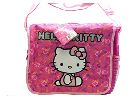 3dfd57039 Image Unavailable. Image not available for. Color: Pink Felt Hello Kitty  Messenger Bag - Hello Kitty Laptop Bag
