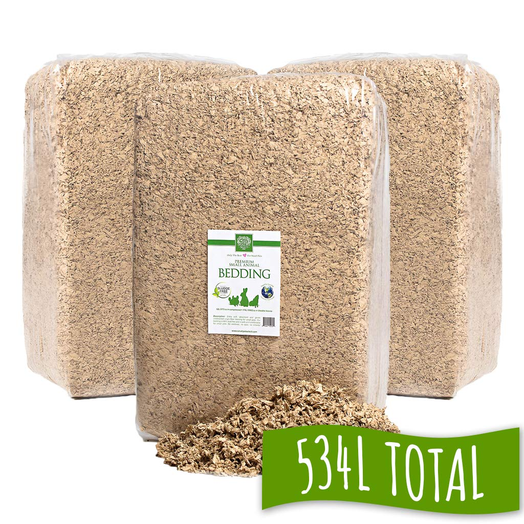 Small Pet Select Jumbo Natural Paper Bedding, 178 L (3-Pack) by Small Pet Select