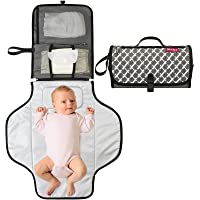 Portable Diaper Changing Pad, BARST Portable Changing Pads with Smart Wipes Pocket Portable Baby Changing Station Gift…