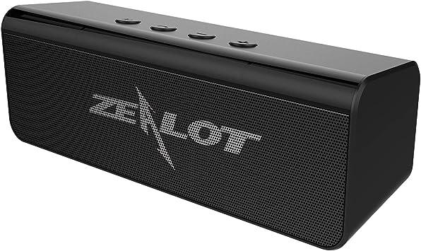 Altavoz Bluetooth portátil, Zealot S31 Bluetooth 5.0 altavoz estéreo potente con 10 horas de tiempo de reproducción, compatible con AUX/TF/USB, función manos libres para jardín, camping, vacaciones: Amazon.es: Electrónica