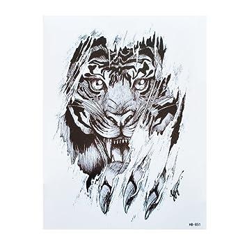 4 Sheets Tiger Tattoo Negro y multicolor pulsera brazo tatuaje ...