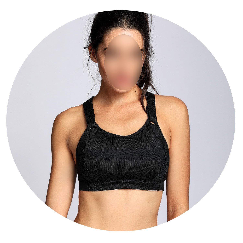 Womens High Impact Wire Free Full Coverage Lightly Padded Sports Bra,Black01,B,36