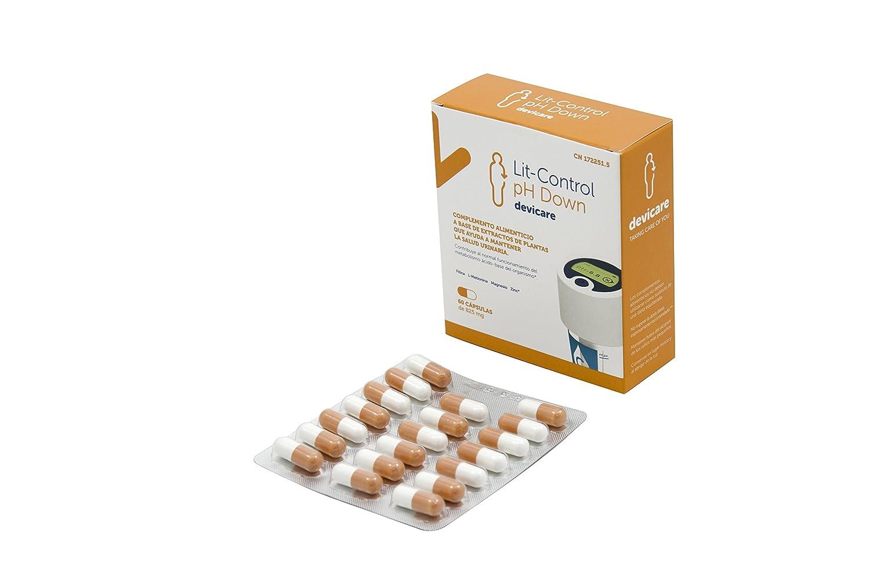 Lit-Control pH Down- Capsulas para disminución del pH urinario y inhibitoria de la cristalización de sales urinarias: Amazon.es: Salud y cuidado personal
