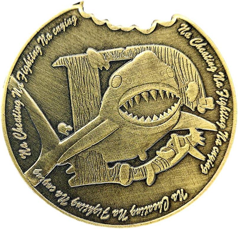 Desconocido Generic Moneda Conmemorativa Patrón de Muesca de Tiburón Coleccionable: Amazon.es: Juguetes y juegos