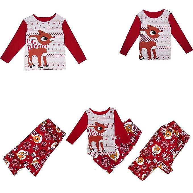 Amazon.com: Juego de ropa de Navidad para familia de Pajamas ...