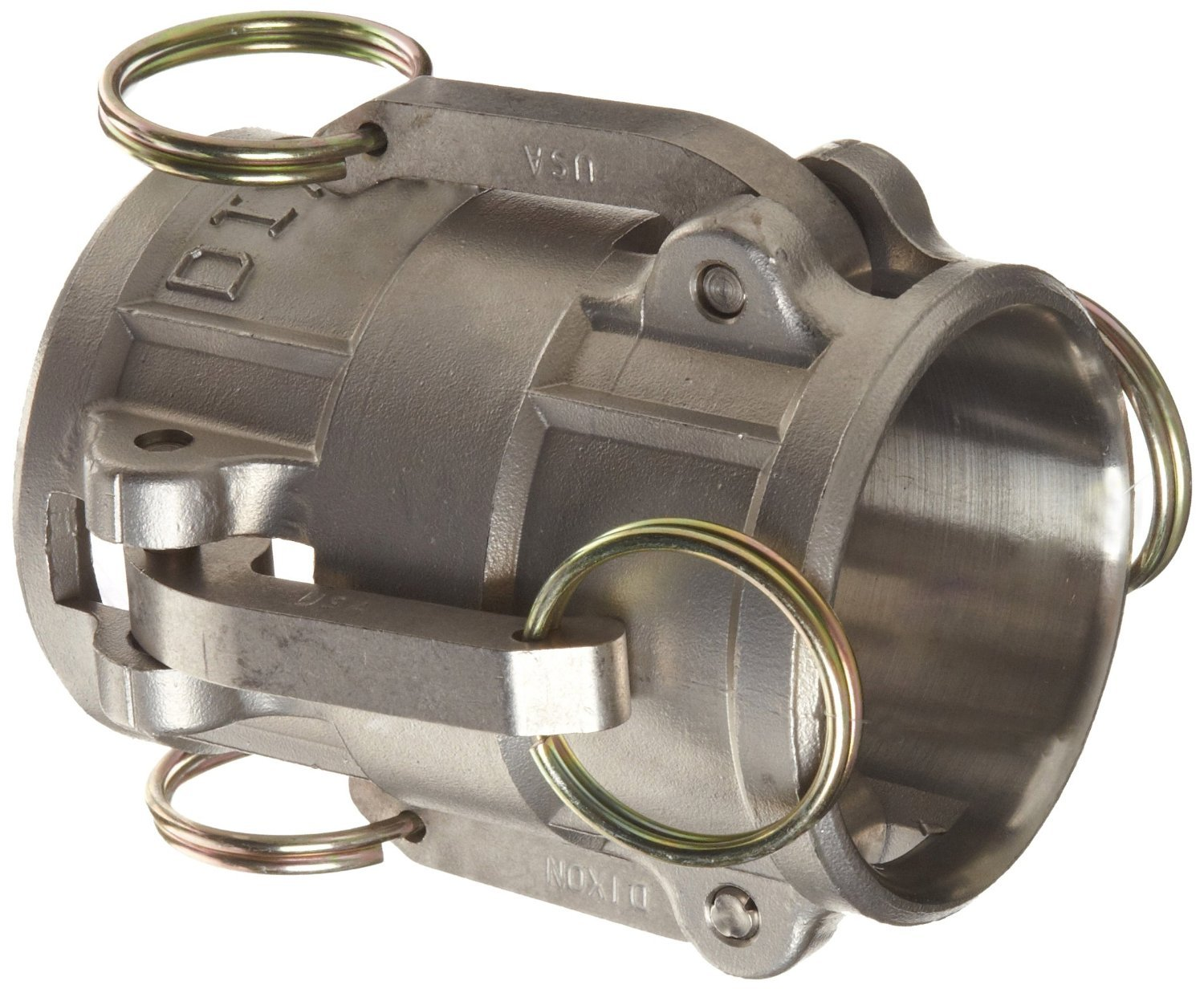 Dixon 200-DD-SS Stainless Steel 316 Cam and Groove Hose Fitting, Spool Coupler, 2'' Socket