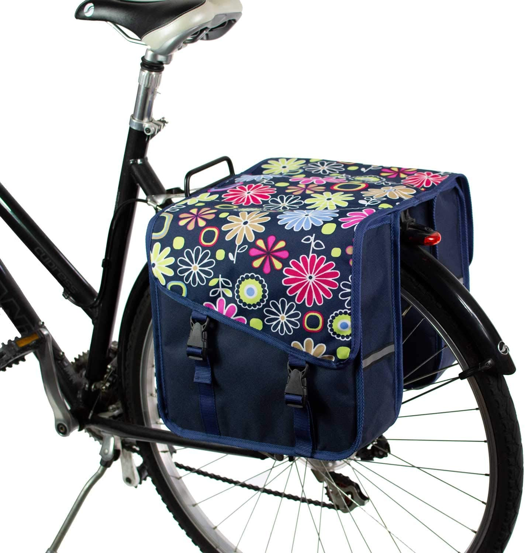 Doble Alforjas Bolsa para Bicicleta BikyBag Cl/ásica S