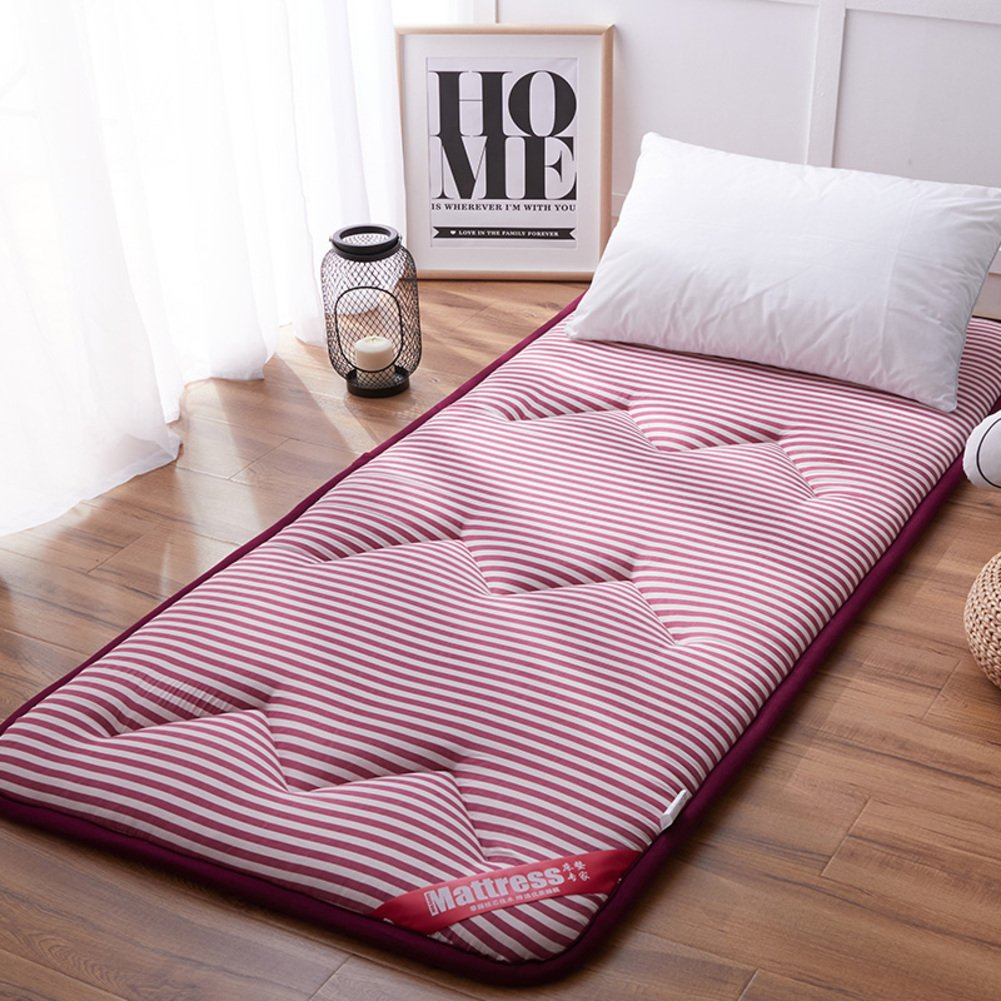 AMYDREAMSTORE Tatami bed mattress anti-slip folding mat 1.8m single double floor sleeping pad nap for living room dormitory-A 90x200cm(35x79inch) HAPPYLEMON