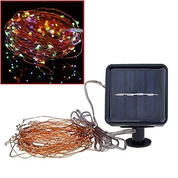 SSSC luces encendidas solares de la secuencia, luces encendidas de la secuencia de 100 LED, luces ...