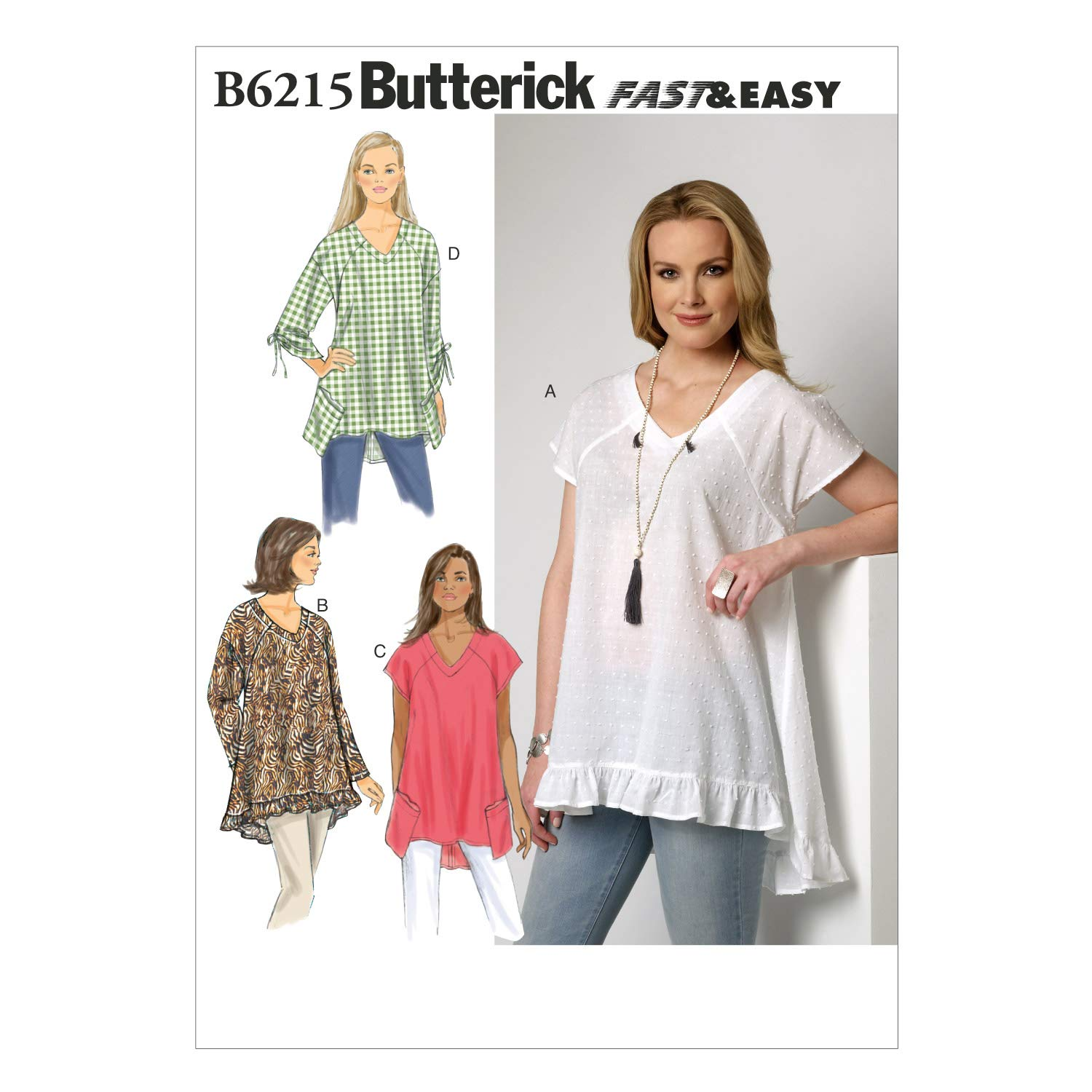 Butterick Patterns B62150Y0 Misses Top, Y (XSM-SML-MED) by BUTTERICK PATTERNS   B00XN81VHC