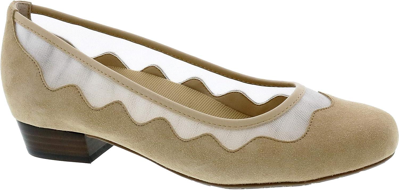 Dress Shoe: Nude/Suede Leather 8.5 Wide