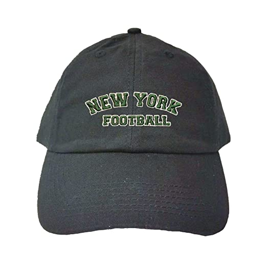 Adjustable Black Adult New York Jets Football Embroidered Dad Hat 96b7441342e