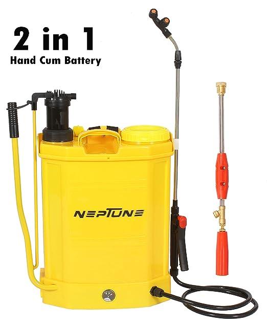 Neptune Simplify Farming 2 in 1 Hand Cum Battery Operated Knapsack Garden Sprayer Bs-21 (Capacity: 16 LTR) 12V/8Ah