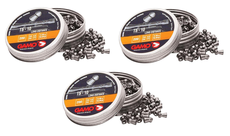 3 latas de 200 perdigones Gamo TS-10 copa-punta 4, 5mm. Modelo 321748 Outletdelocio