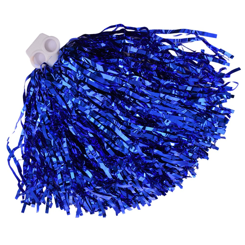 twinkbling Cheerleading Pom Poms Dance Party Kostüm Sport Cheerleader Flower Ball mit Kunststoff Griff blau