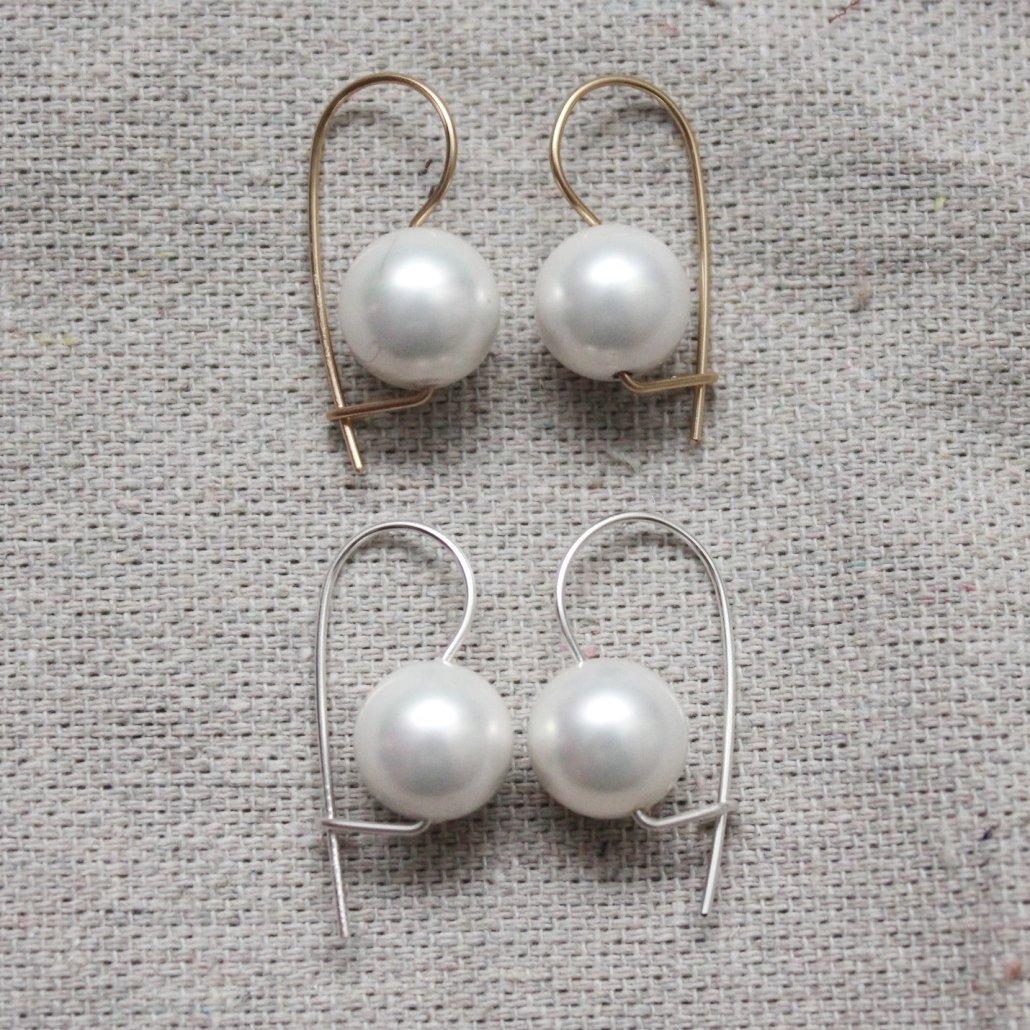 Grey Pearl Earrings Gray Pearl Pearl Drop Earrings Bridesmaid Earrings Pearl Jewelry Silver Pearl Earring Gray Pearl Earring Bridesmaid Gift