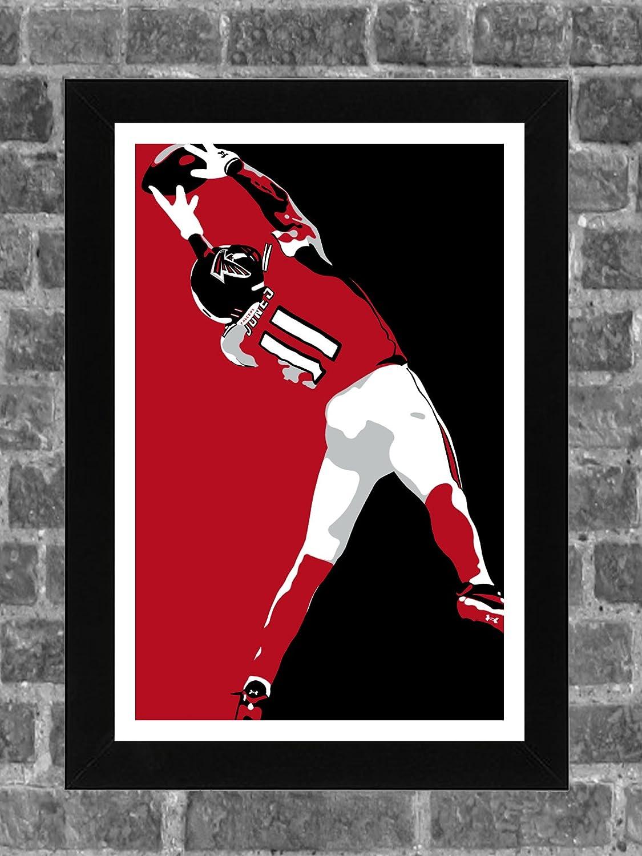 Atlanta Falcons Julio Jones SB Catch Portrait Sports Print Art 11x17 FanFourLife
