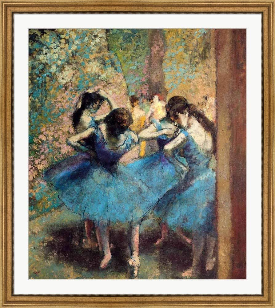 1890/' Rolled Canvas Art 14 x 14 Edgar Degas /'Dancers in Blue