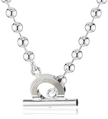 64081cc7c Gucci Women's Boule Chain 43 cm 925 Sterling Silver YBB135816001:  Amazon.co.uk: Jewellery