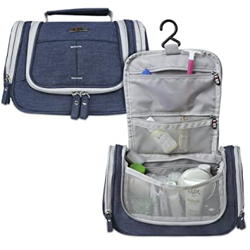 ad497089b2 Amazon.com  BUBM Toiletry Bag-Portable Travel Kit Organizer with Hanging  Hook for Women Cosmetic Makeup and Men Shaving Kit