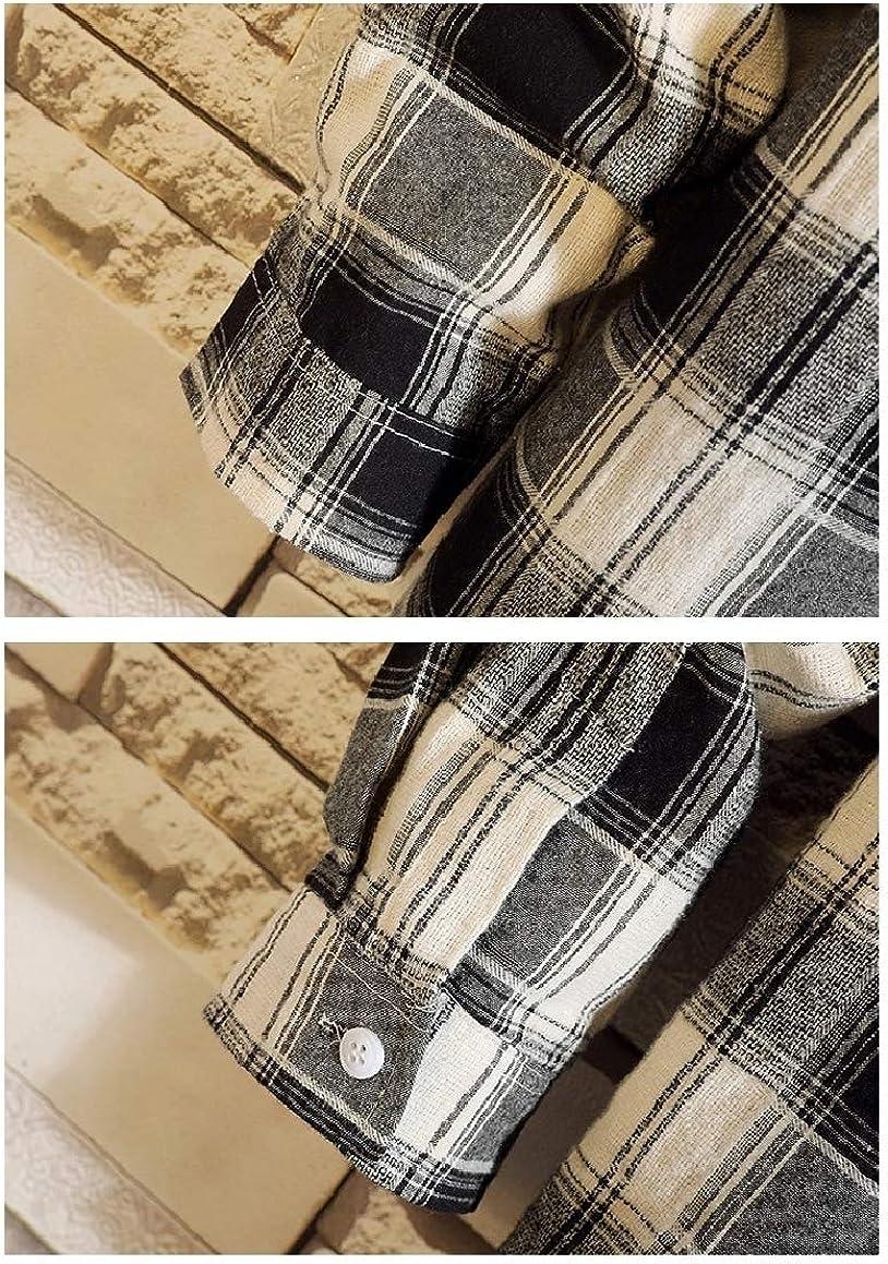 Abetteric Mens Irregular Hem Britain Plaid Plus Size Button Down Shirt