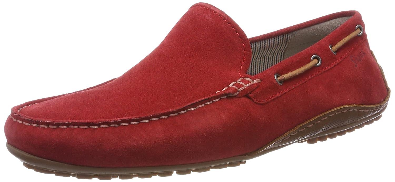 Sioux Callimo, Mocasines para Hombre 41 EU|Rojo (Rosso/Cognac 005)