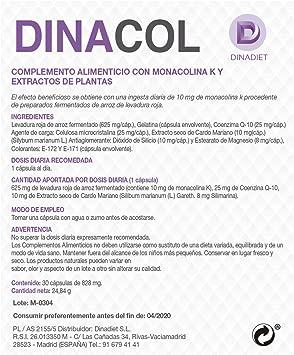 Dinadiet Dinacol 30 Cápsulas: Amazon.es: Salud y cuidado personal