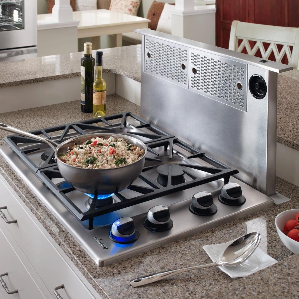 Renaissance Epicure ERV3015 30 Downdraft Range Hood With Easy-To-Clean Filters Infinite Blower Speed Control & In Stainless Steel
