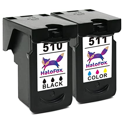 HaloFox 2 Cartuchos de tinta PG-510 CL-511 para Canon PIXMA MX350 MX360 MX320 MP499 MX340 MX410 MX420 iP2700 iP2702 MP230 MP240 MP250 MP252 MP260 ...