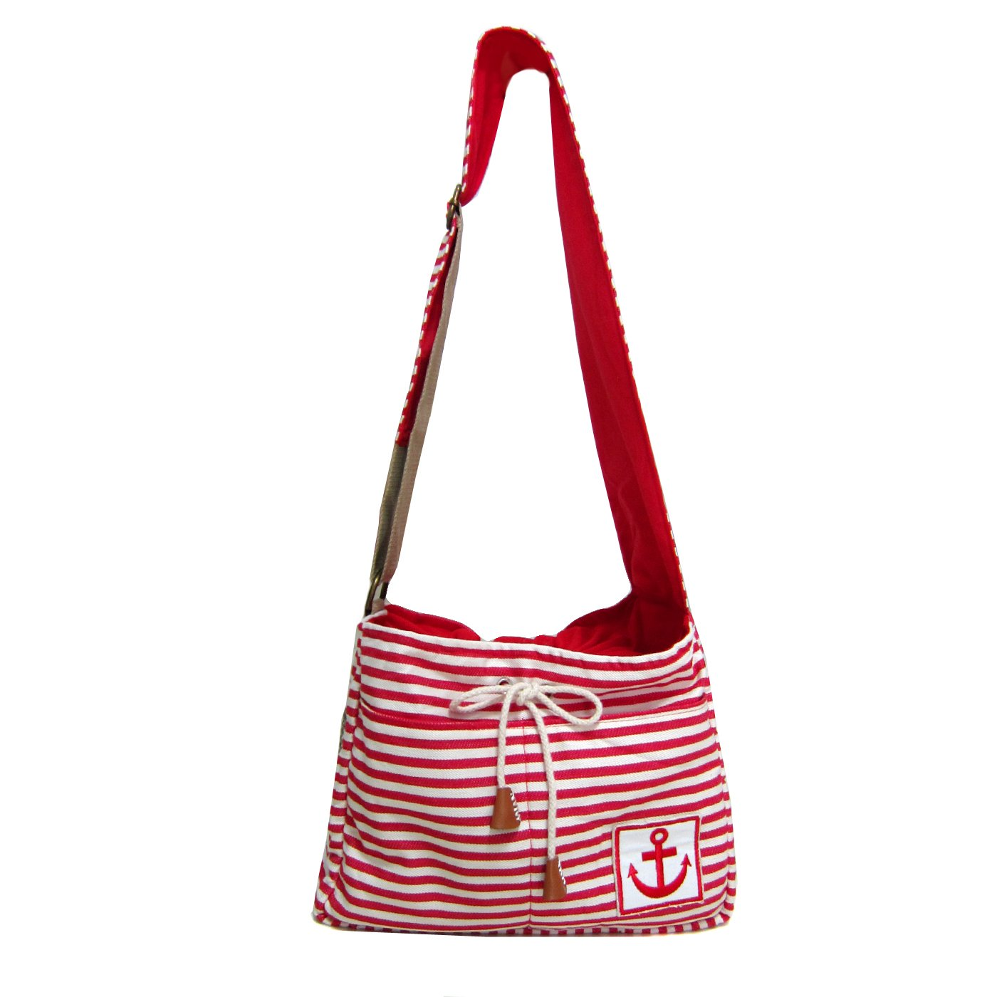 Alfie Pet by Petoga Couture - Rei Pet Sling Carrier with Adjustable Strap - Color: Red, Size: M