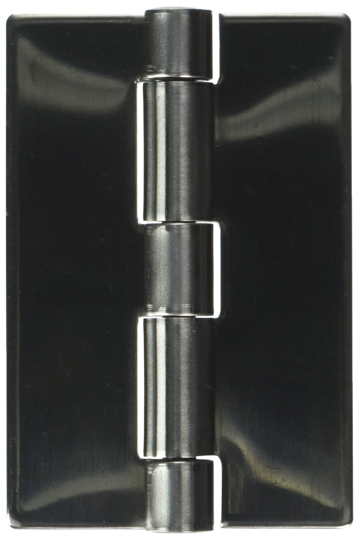 Sugatsune HNH-75CL Weld On Lift Off Hinge, Stainless Steel 304, Mirror Finish, Left Handedness, 3mm Leaf Thickness, 70mm Open Width, 12mm Pin Diameter