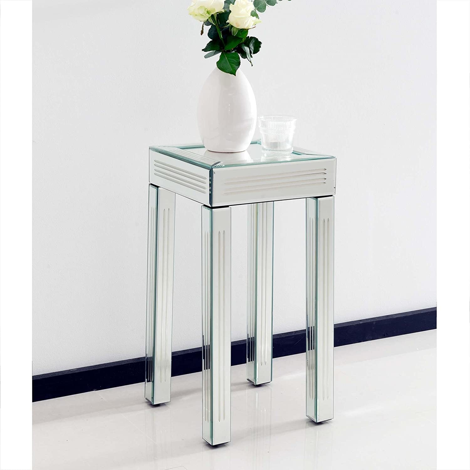 homesdirect365 Small Mirrored Side Table