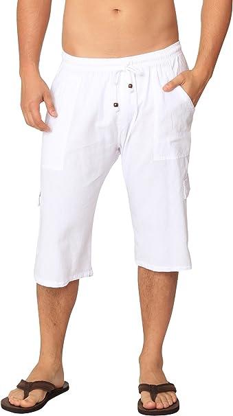 Amazon.com: PURE COTTON - Pantalones cortos de algodón para ...