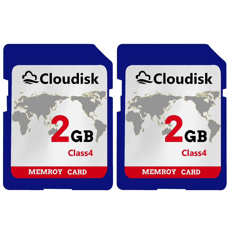 Cloudisk 2PACK 2GB SD Card Class4 720P HD Tarjeta de Memoria Flash ...